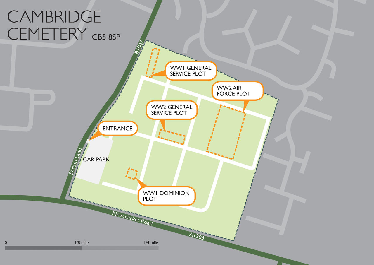 Cambridge Cemetery Site Map