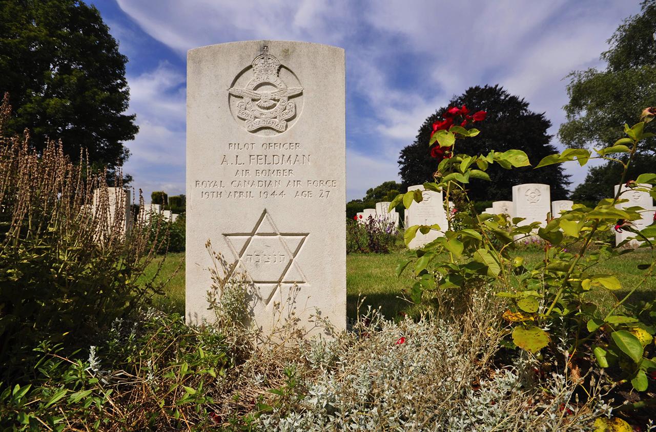 Arnold Feldman's grave © C Jones