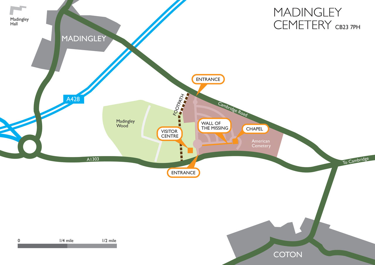 Madingley Cemetery Site Map