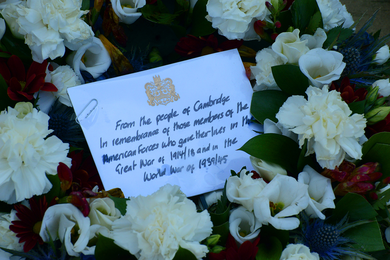 Wreath laid at the Wall of the Missing © C Jones