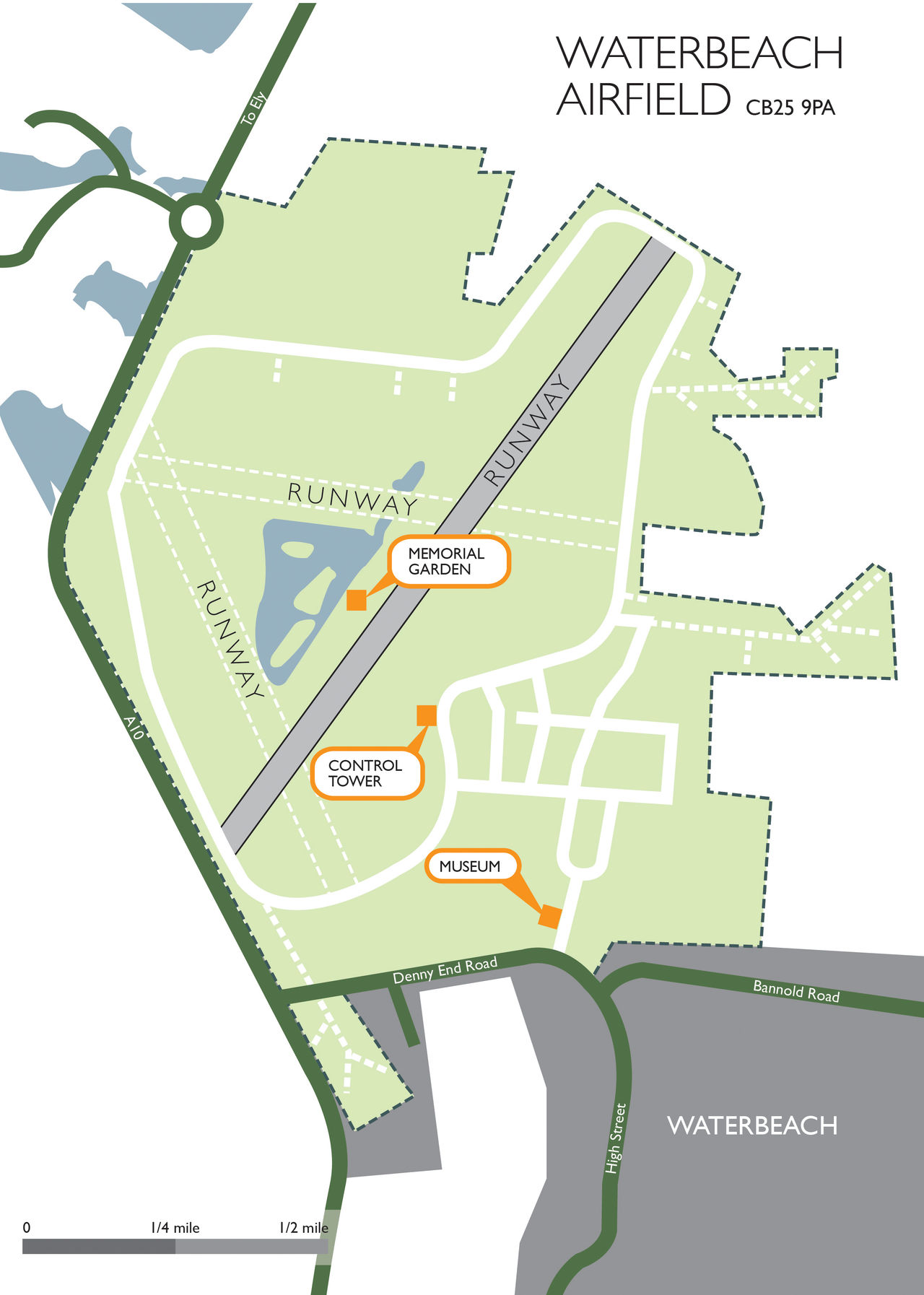 Waterbeach Site Map