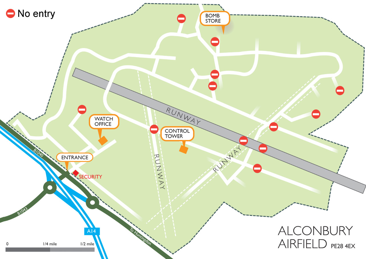 Alconbury Site Map